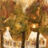 't Bonte Paard - Acryl op papier, 37 x 50 cm