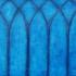 Vitrail blauw, olieverf 75 x 60 cm (gotiek venster Naarden)