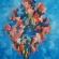 Les fleurs de Chagall, olieverf 100 x 80 cm