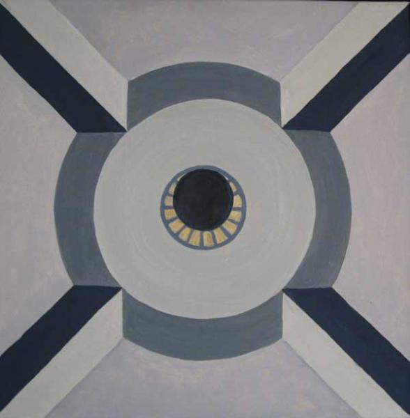 Koepel 3, olieverf 60 x 60 cm