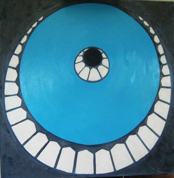Koepel, olieverf 60 x 60 cm