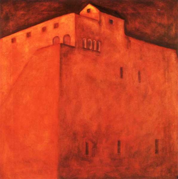 Romano Castello, olieverf 80 x 80 cm