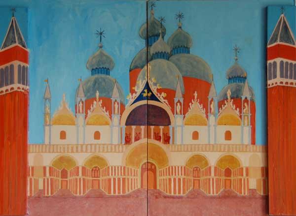 San Marco, acryl 74 x 97 cm