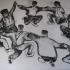 Studie: La Danse - houtskool, 70 x 100 cm