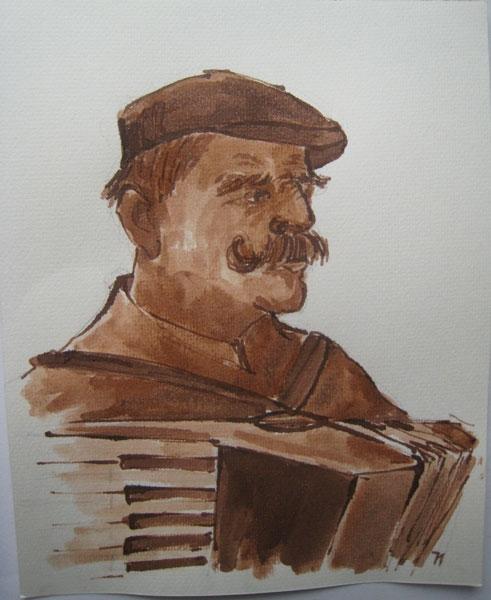 Klepperman 4 - sepia, 25 x 20 cm